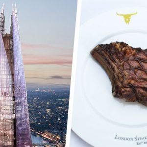 The View from The Shard and Three Course Meal at Marco Pierre White London Steakhouse
